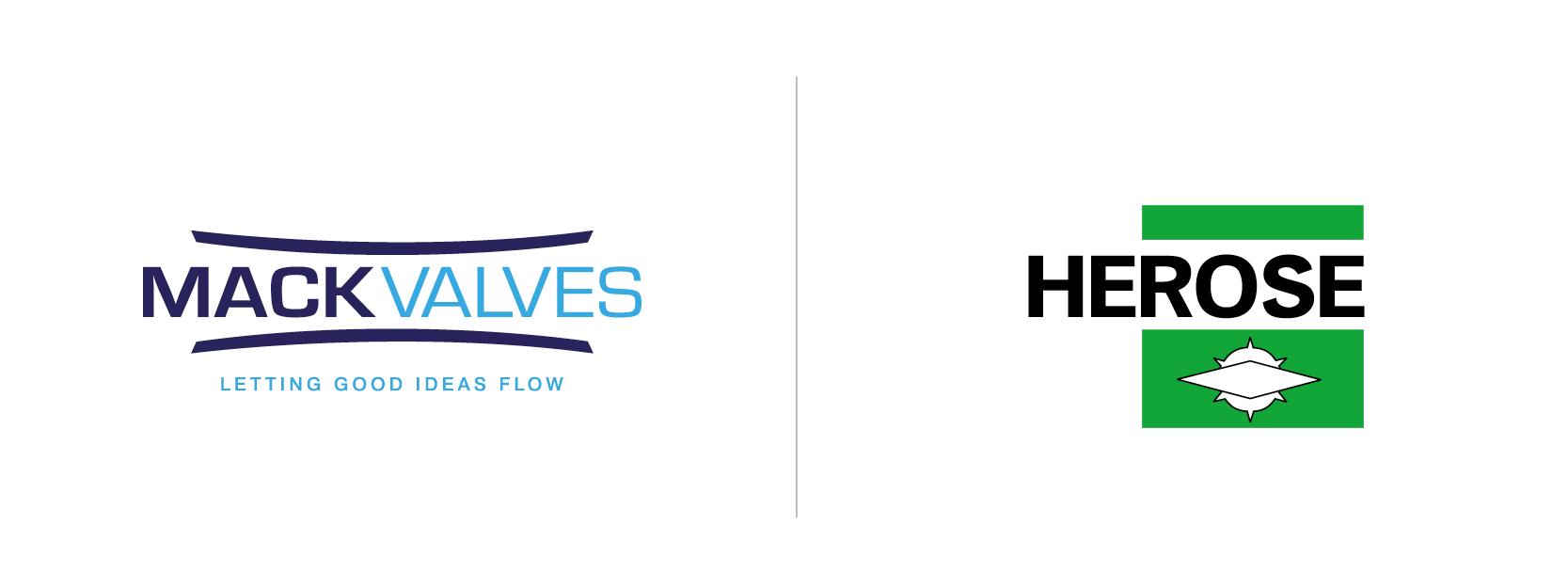 HEROSE and Mack Valves logos on a white background